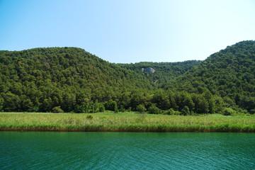 KRKA river in national park in Croatia.