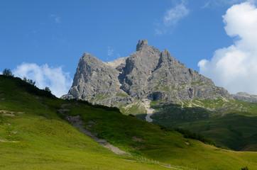 Widderstein am Hochtannbergpass, Vorarlberg, Österreich