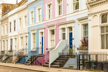 A typical view in Notting Hill in London