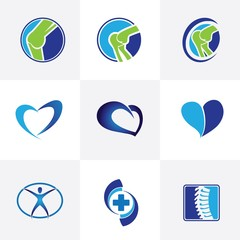 Medical and orthopedic logo design template vector image
