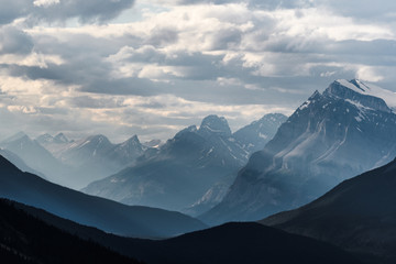 Printed roller blinds Dark grey Dramatic landscape along the Icefields Parkway, Canada