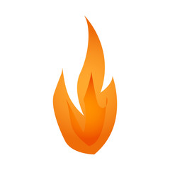 Vector illustration. Fire logo. Red, yellow fire