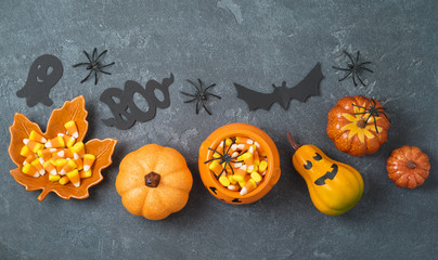 Halloween holiday composition