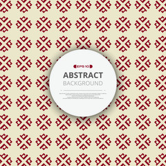 Abstract of red chinese pattern geometric background with round space of text.
