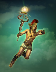 Hermes the messenger of the Gods by day, 3d CG