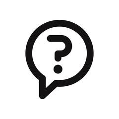 Question mark in a speech bubble icon vector