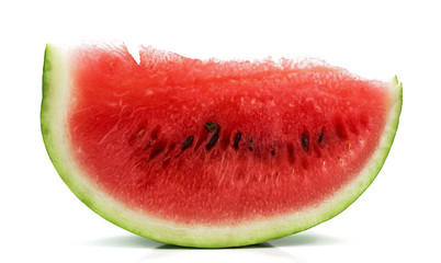 Piece of watermelon on a white background