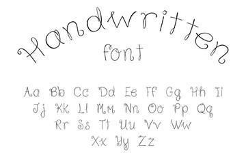 handwritten font alphabet
