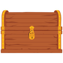 Pirate chest vector
