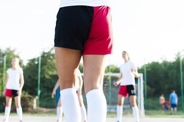 female handball team playing a game