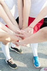 Handball teamwork