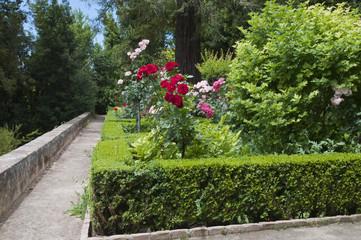 Generalife, Gartenanlage, Granada, Andalusien, Spanien