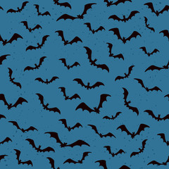 Seamless background with bats for Halloween