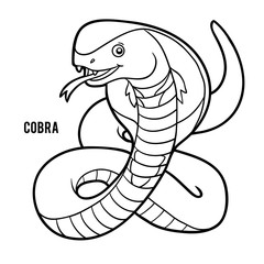 Coloring book, Cobra