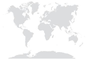 Montage in der Fensternische Weltkarte 15% GRAY WORLD MAP EDITABLE