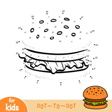Numbers game, education game for children, Burger