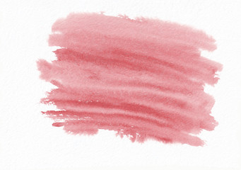 Red or scarlet horizontal watercolor gradient hand drawn background. It's useful for graphic design, backdrops, prints, wallpaper and et