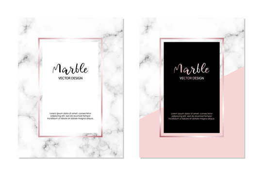 Marble vector design template for invitation, banners, greeting card, etc. Minimalist textured cover.