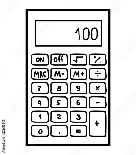 """10 ticks calculator coloring book pages 