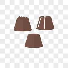 chocolate icon isolated on transparent background. Modern and editable chocolate icon. Simple icons vector illustration.