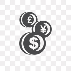 Currency vector icon isolated on transparent background, Currency logo design