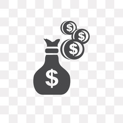 Money vector icon isolated on transparent background, Money logo design