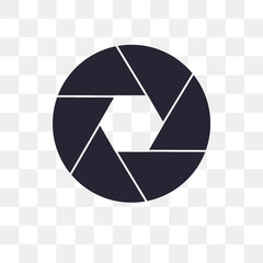 shutter icon on transparent background. Modern icons vector illustration. Trendy shutter icons