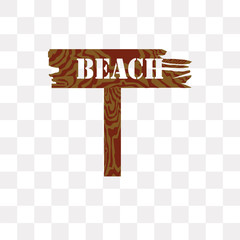 beach icon on transparent background. Modern icons vector illustration. Trendy beach icons