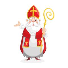 Cute Saint Nicholas cartoon character