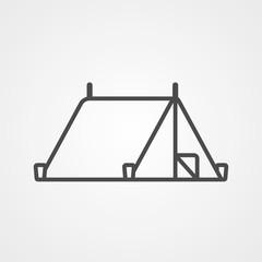 Tent vector icon sign symbol