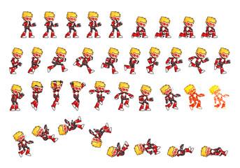 Red Robot Game Sprites