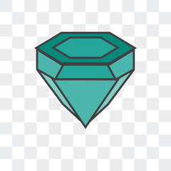 diamonf icon isolated on transparent background. Modern and editable diamonf icon. Simple icons vector illustration.