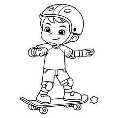 Boy Excersicing With His Skateboard BW