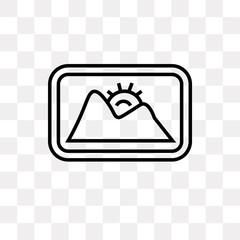 landscape image icon on transparent background. Modern icons vector illustration. Trendy landscape image icons