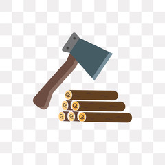 axe icon on transparent background. Modern icons vector illustration. Trendy axe icons