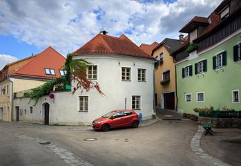 Old residential neighborhood. Weissenkirchen in der Wachau, Austria.