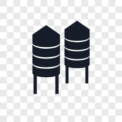 silo icons isolated on transparent background. Modern and editable silo icon. Simple icon vector illustration.