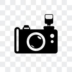 Reflex photo camera vector icon isolated on transparent background, Reflex photo camera logo design