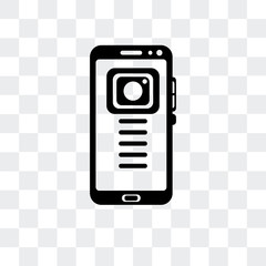 Mobile phone vector icon isolated on transparent background, Mobile phone logo design