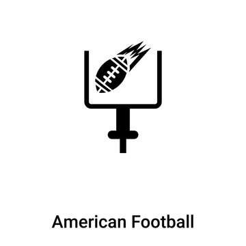 American Football Goal icon vector isolated on white background, logo concept of American Football Goal sign on transparent background, black filled symbol
