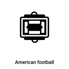 American football scores icon vector isolated on white background, logo concept of American football scores sign on transparent background, black filled symbol