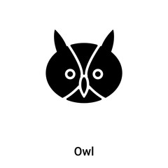 Owl icon vector isolated on white background, logo concept of Owl sign on transparent background, black filled symbol