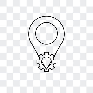 placeholder icon isolated on transparent background. Modern and editable placeholder icon. Simple icons vector illustration.