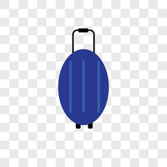 luggage icons isolated on transparent background. Modern and editable luggage icon. Simple icon vector illustration.