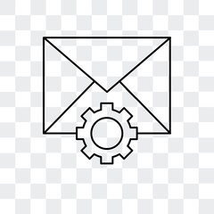 mail icon isolated on transparent background. Modern and editable mail icon. Simple icons vector illustration.