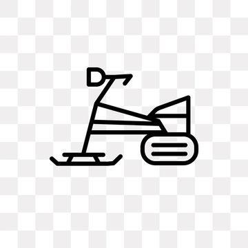 skibob icon on transparent background. Modern icons vector illustration. Trendy skibob icons