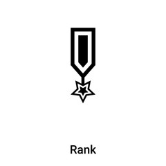 Rank icon vector isolated on white background, logo concept of Rank sign on transparent background, black filled symbol