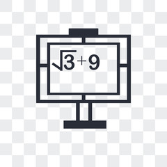 math class icon isolated on transparent background. Modern and editable math class icon. Simple icons vector illustration.