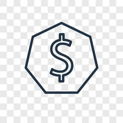 dollar icons isolated on transparent background. Modern and editable dollar icon. Simple icon vector illustration.
