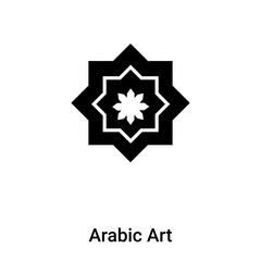 Arabic Art icon vector isolated on white background, logo concept of Arabic Art sign on transparent background, black filled symbol